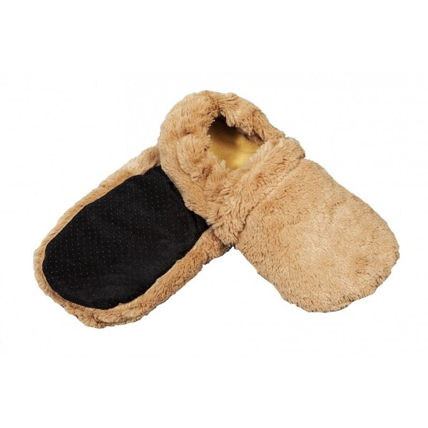 Pelucho - Chaussons chauffants Caramel-Made in France