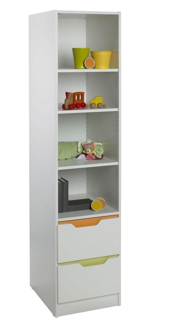 Geuther - Bibliothèque meuble à étagère Fresh blanche 54.5 x 45.5 x 193cm