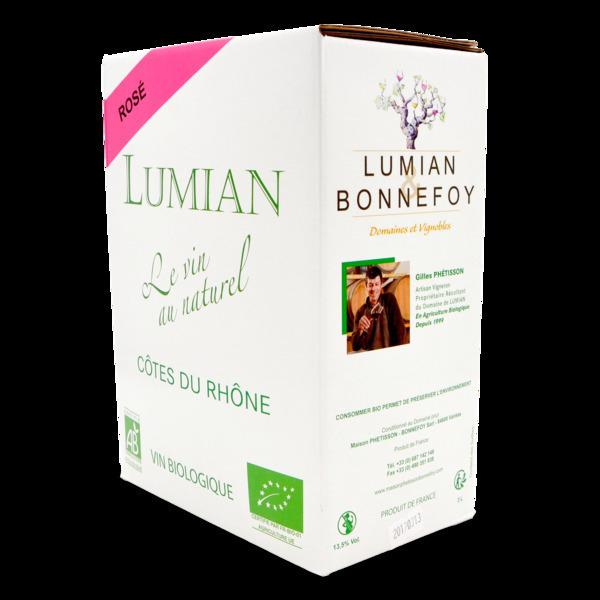 Domaine de Lumian - A.O.C Côtes du Rhône BIB 3 l rosé - Domaine de Lumian