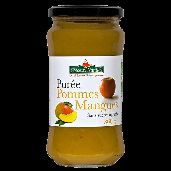 Côteaux Nantais - Purée pommes mangues 360 g Demeter