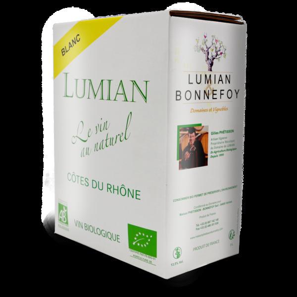 Domaine de Lumian - A.O.C Cotes du Rhone BIB 3 l blanc - Domaine de Lumian