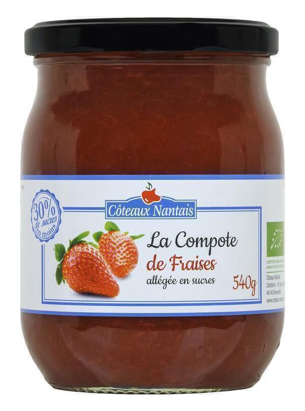 Côteaux Nantais - compote allégée en sucres fraises 540g
