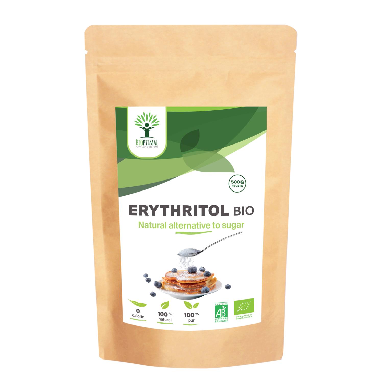 Bioptimal - Erythritol Bio - Zéro Sucre & Calorie - Pouvoir Sucrant - 500g