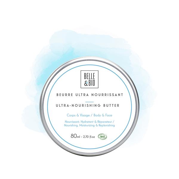 Belle & Bio - Beurre Ultra Nourrissant - 80ml - Certifie Cosmos par Ecocert