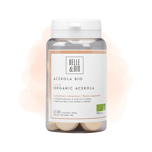 Belle & Bio - Acérola Bio - Tonus - 30 Comprimés - Certifié AB par Ecocert