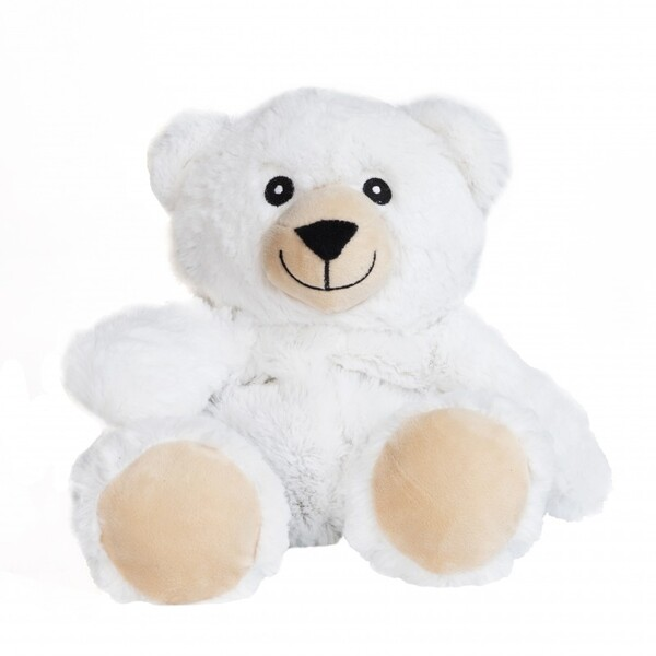 Pelucho - Peluche Bouillotte Ourson Blanc - Made in France