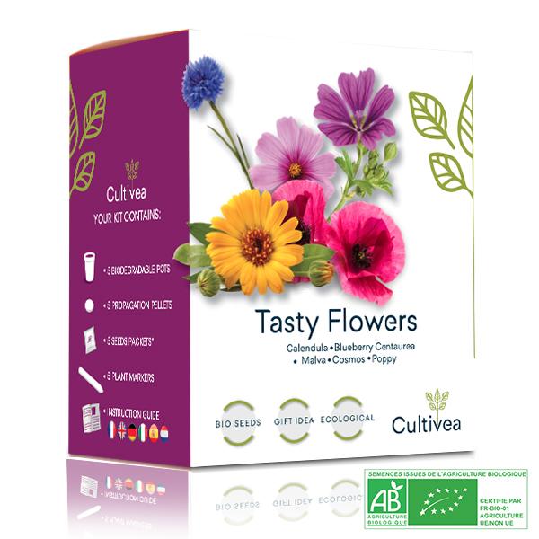 Cultivea - Mini Kit Graines Fleurs Comestibles BIO*