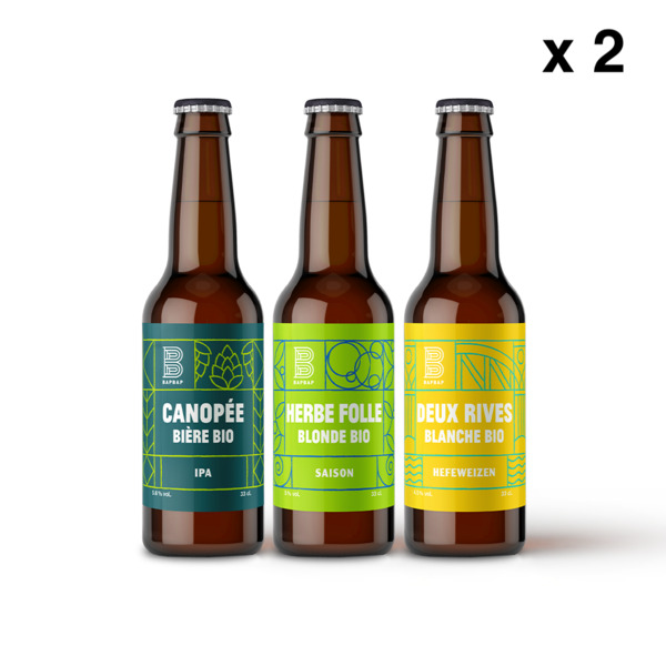 BAPBAP - Pack Mixte - 6 Bières Bio BAPBAP