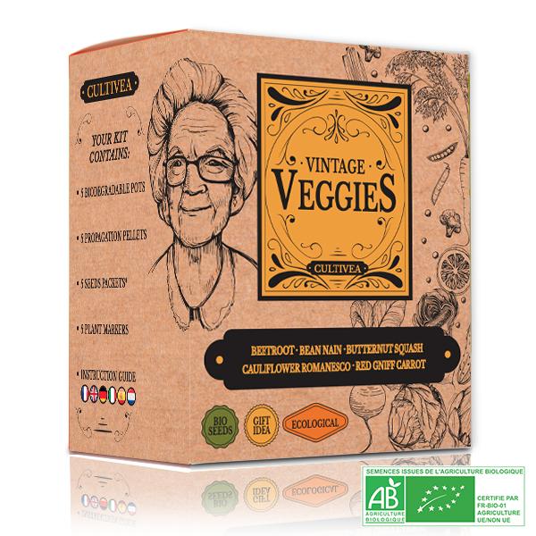 Cultivea - Mini Kit Graines de Légumes Vintage BIO*