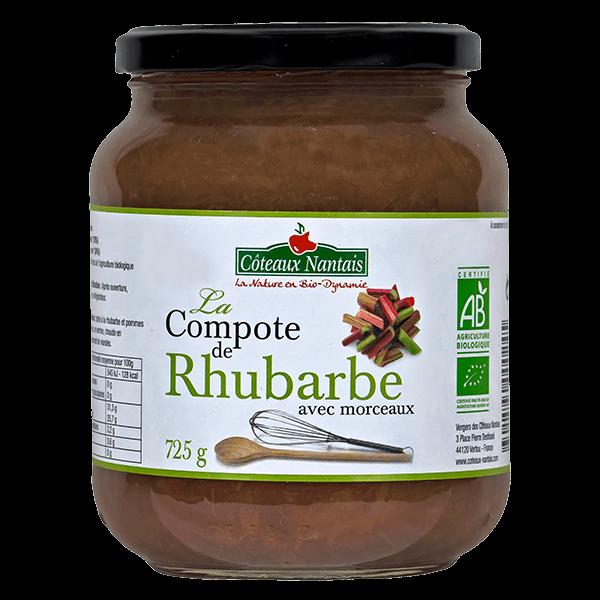 Côteaux Nantais - Compote rhubarbe 315 g