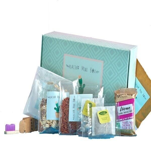 Healthy mini box - BOX DETOX, coffret  avec 8 produits  Healthy et BIO