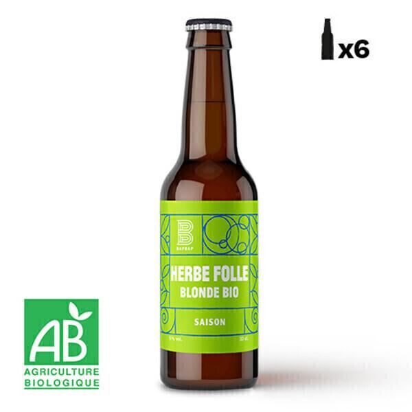 BAPBAP - Pack 6 x Herbe Folle - Blonde BIO