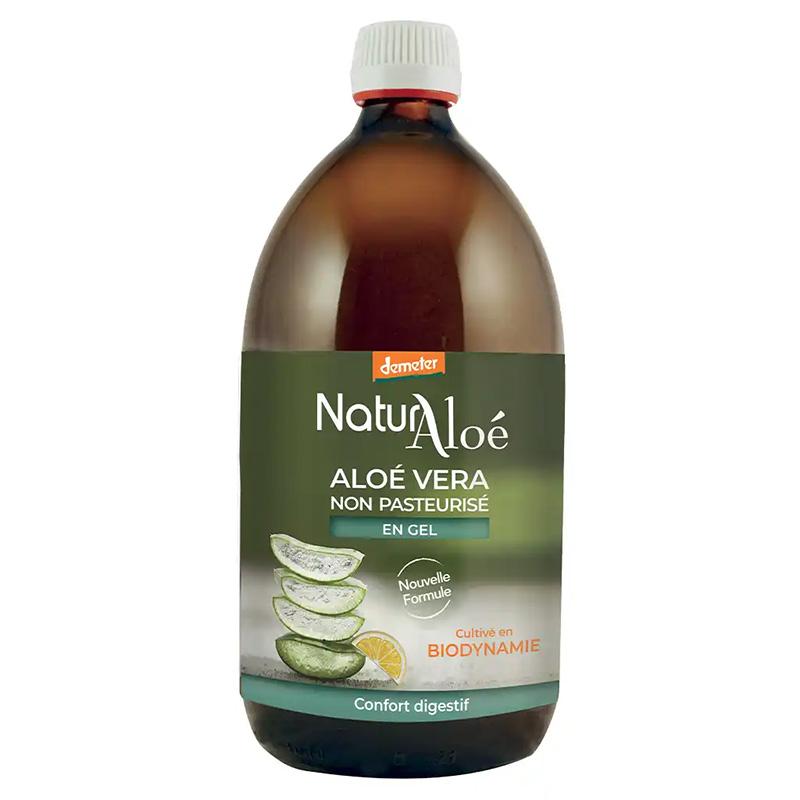 NaturAloe - Gel frais d'Aloé Vera à boire NON PASTEURISE Bio 500 ml