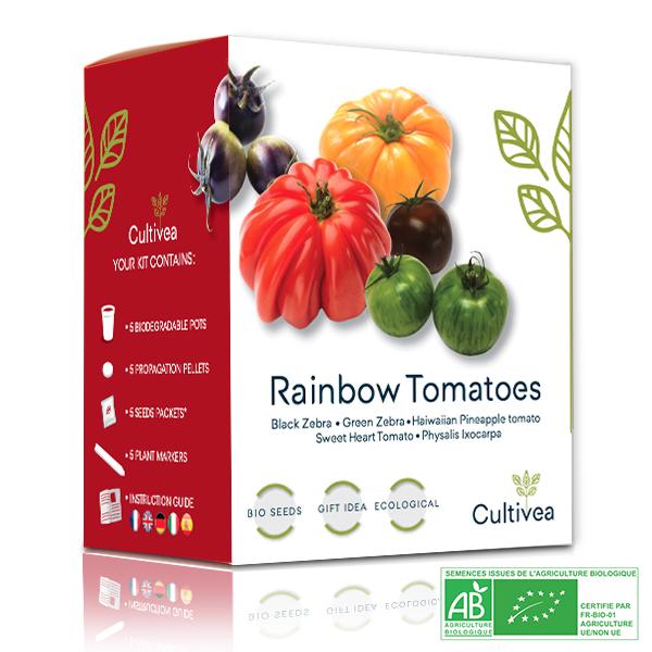 Cultivea - Mini Kit Graines de Tomates Arc-en-ciel BIO*