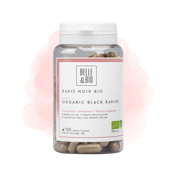 Belle & Bio - Radis Noir Bio - 120 Gélules - Certifié AB par Ecocert