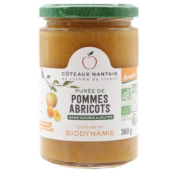 Côteaux Nantais - Purée pommes abricots 360 g Demeter