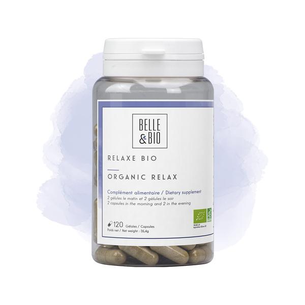 Belle & Bio - Relaxe Bio - 120 Gélules - Certifié AB par Ecocert