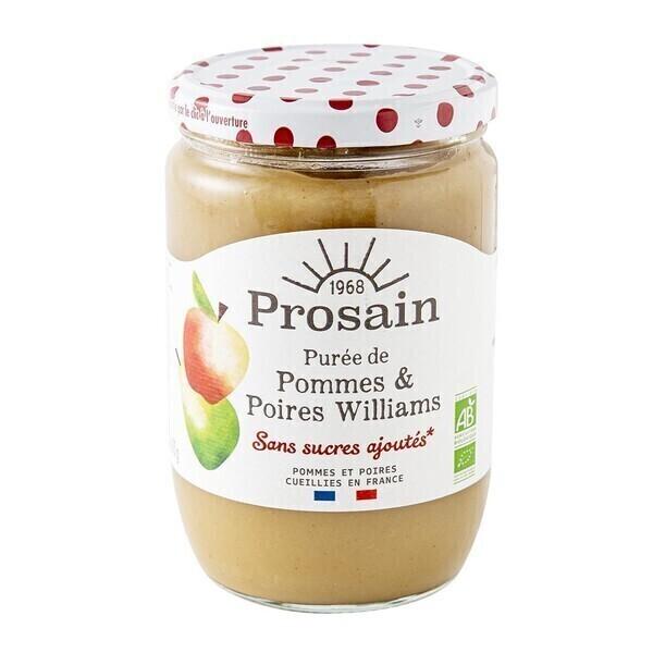 ProSain - Purée de pommes poire williams sans sucres ajoutés 620g bio