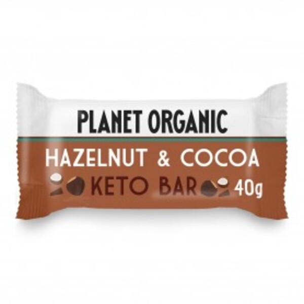 Planet Organic - Barre Keto Noisette-Cacao 40g Bio