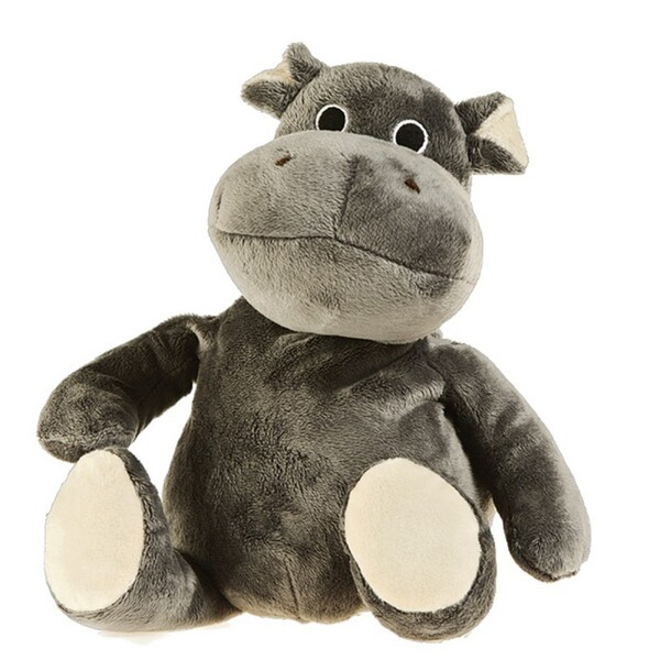 Pelucho - Peluche Bouillotte Hippopotame - Made in France