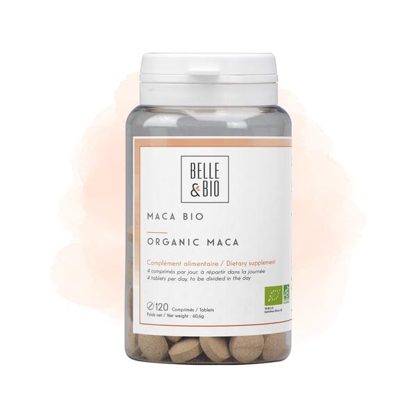 Belle & Bio - Maca Bio - Tonus - 120 Comprimés - Certifié AB par Ecocert