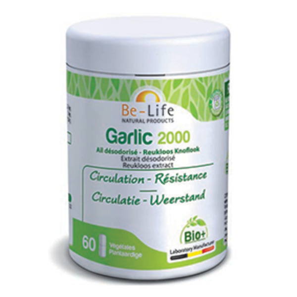 Be-Life - Garlic 2000 (ail désodorisée) 60 gélules Bio