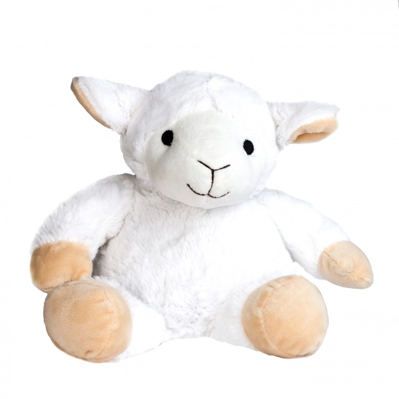 Pelucho - Peluche Bouillotte Mouton blanc - Made in France