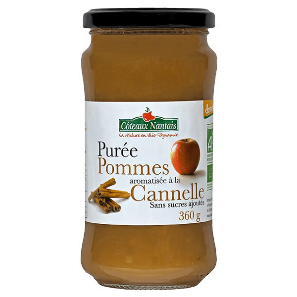 Côteaux Nantais - Purée pommes cannelle 360 g Demeter