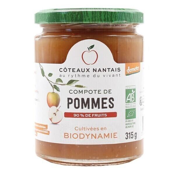 Côteaux Nantais - Compote pommes 315 g Demeter