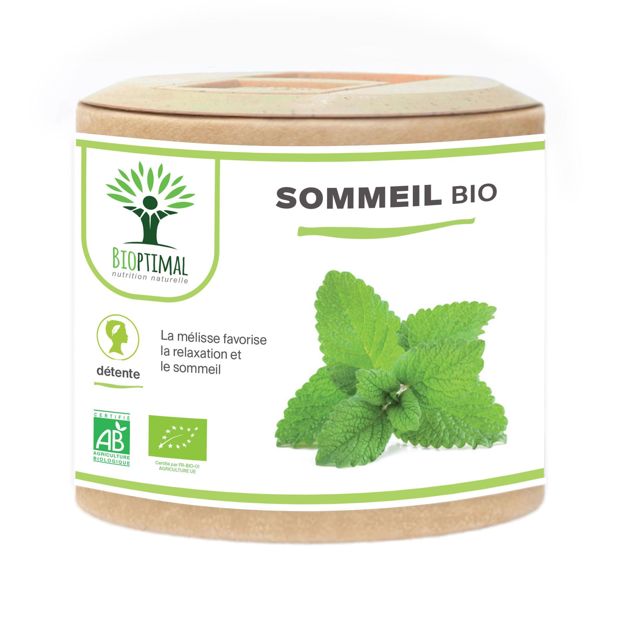 Bioptimal - Sommeil - Complément alimentaire - Dormir - Nuit - 60 gélules