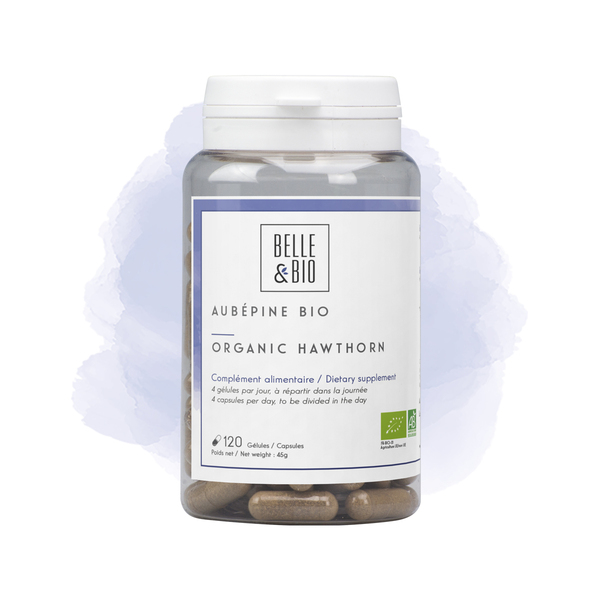 Belle & Bio - Aubepine Bio - 120 Gelules - Certifie AB par Ecocert