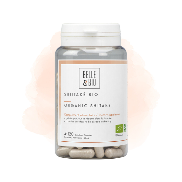 Belle & Bio - Shiitake Bio - 120 Gélules - Certifié AB par Ecocert
