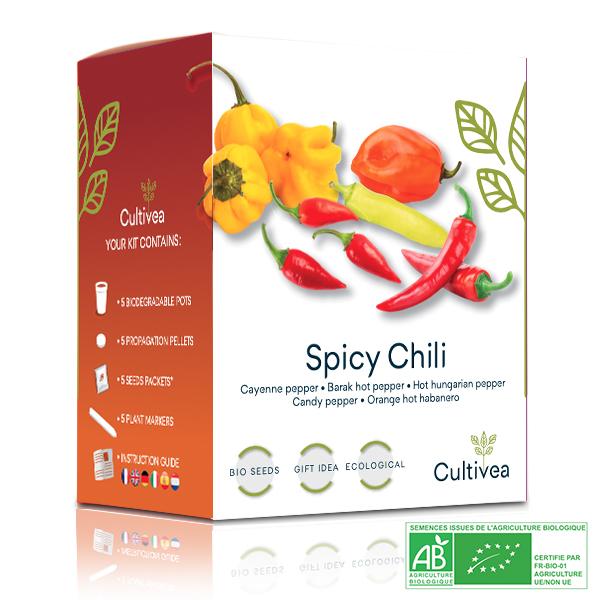 Cultivea - Mini Kit Graines de Piments BIO*