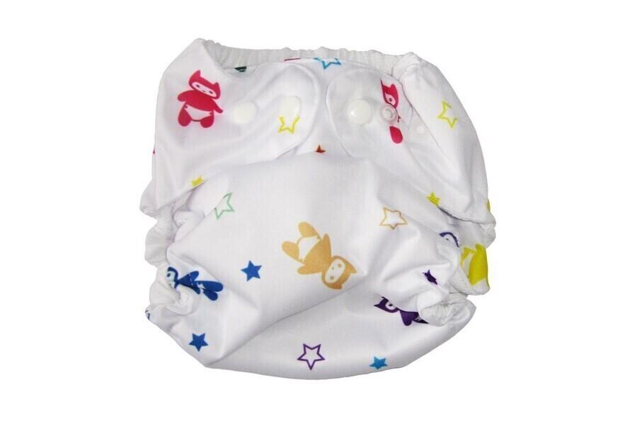 P'tits Dessous - Couche lavable bébé So Easy, Taille Unique (3-15 kg) - Multi