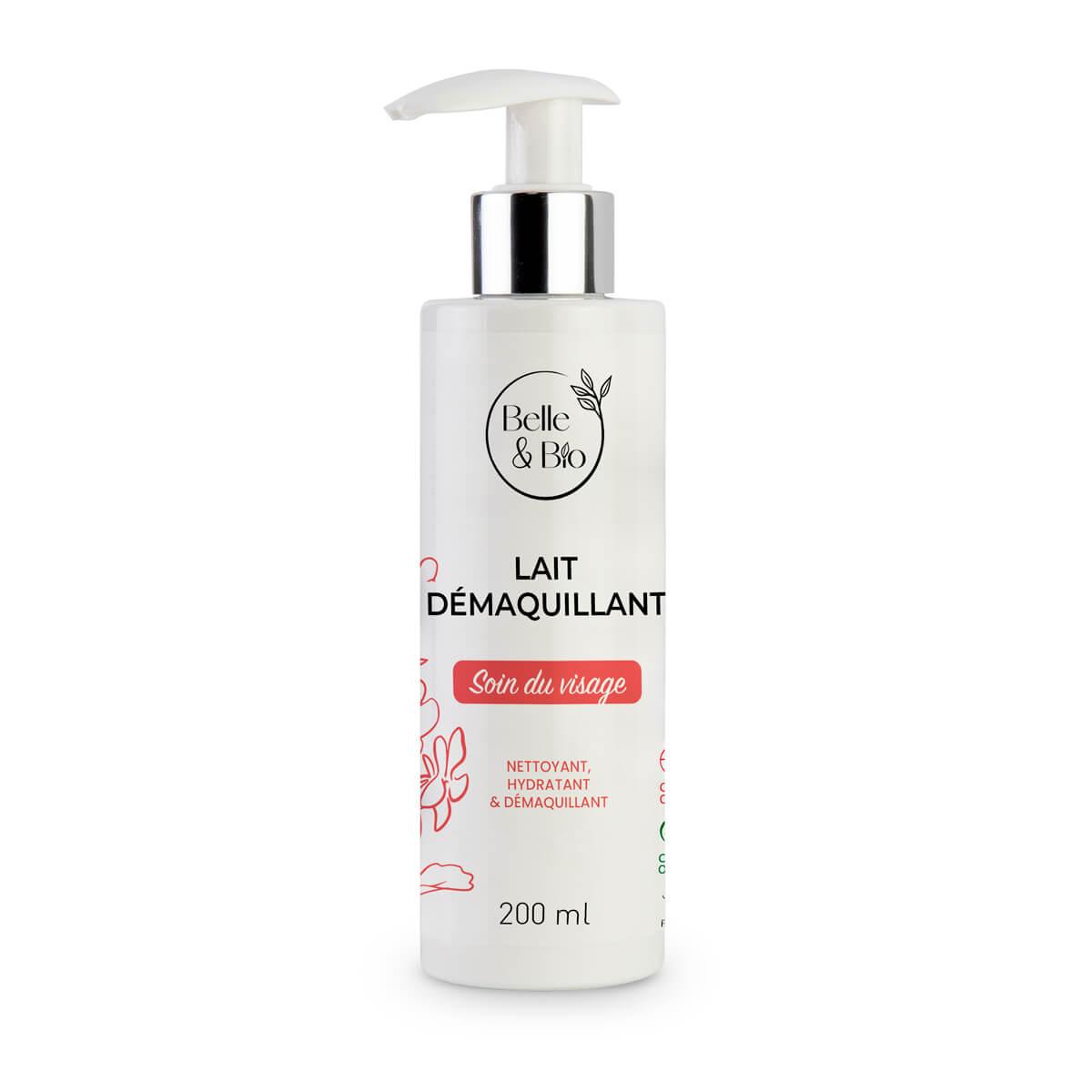 Belle & Bio - Lait Démaquillant - 200ml - Certifié Cosmos par Ecocert