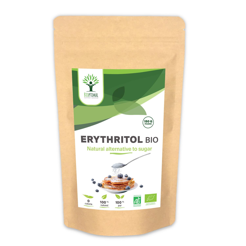 Bioptimal - Erythritol Bio - Zéro Sucre & Calorie - Pouvoir Sucrant - 150g