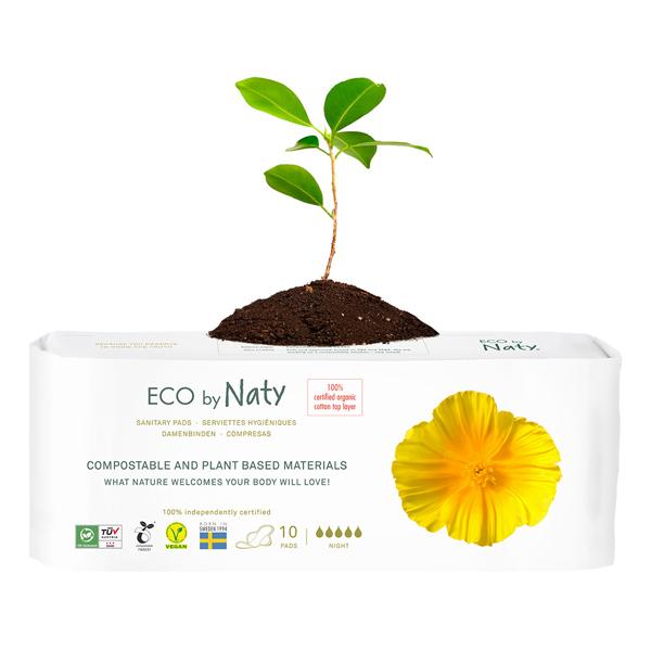 Eco by Naty - 10 Serviettes hygiéniques écologiques - Nuit