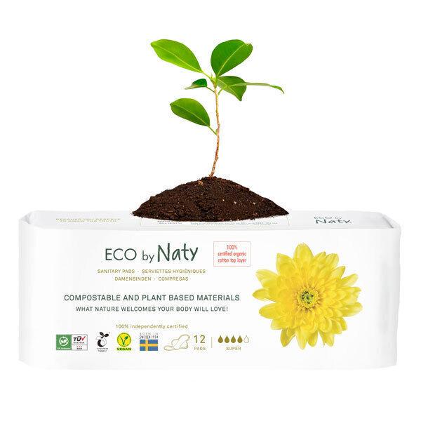 Eco by Naty - 10 Serviettes hygiéniques écologiques - Super