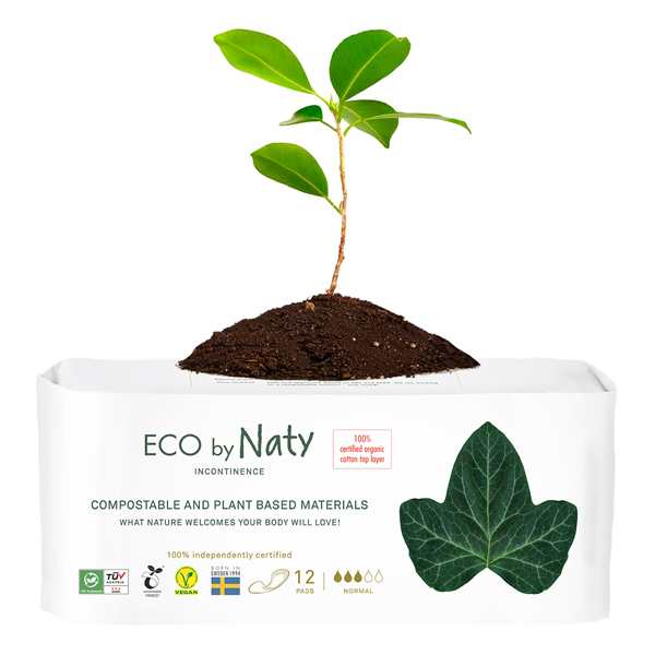 Eco by Naty - 12 Serviettes pour fuites urinaires - Normal