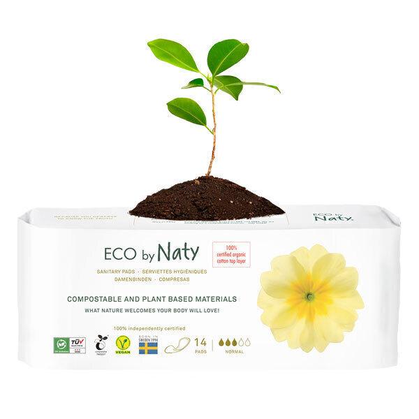 Eco by Naty - 14 Serviettes hygiéniques écologiques - Normal