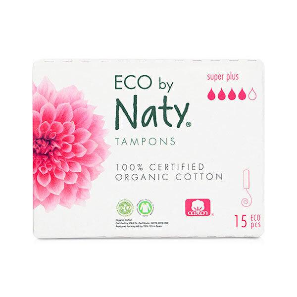 Eco by Naty - 15 Tampons sans applicateur - Super Plus