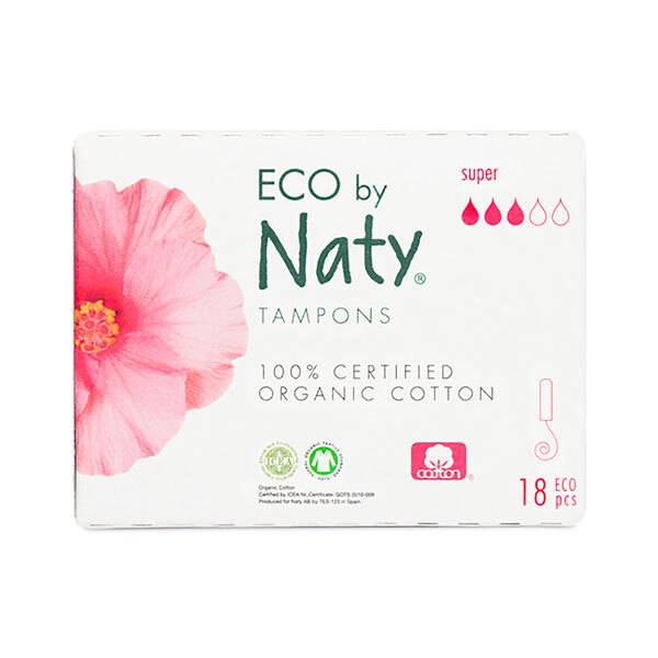 Eco by Naty - 18 Tampons sans applicateur - Super
