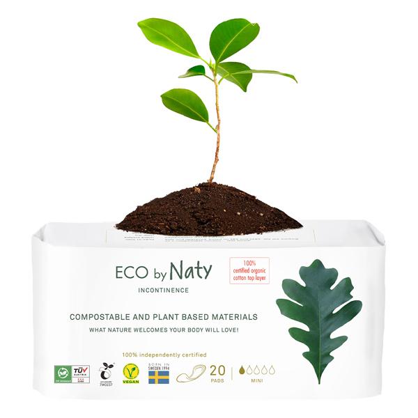 Eco by Naty - 20 Serviettes pour fuites urinaires - Mini