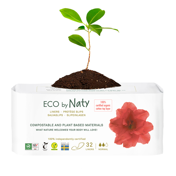Eco by Naty - 32 Protège-slips écologiques - Normal