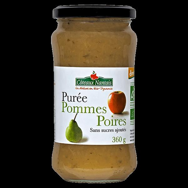 Côteaux Nantais - Purée pommes poires 360 g Demeter