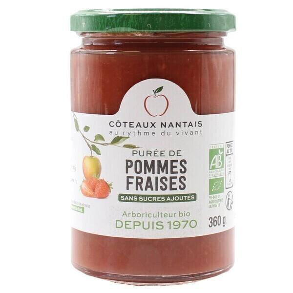 Côteaux Nantais - Purée pommes fraises 360 g bio