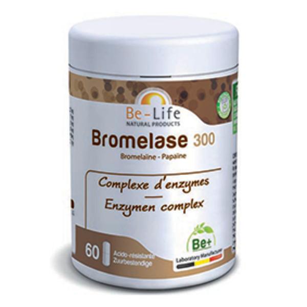 Be-Life - Bromelase 300 (bromelaïne - papaïne) 60 gélules