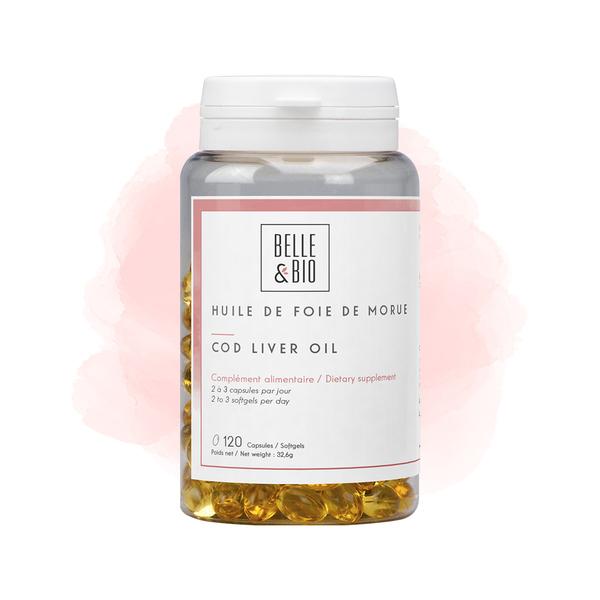 Belle & Bio - Huile de Foie de Morue - Défenses Naturelles - 120 Capsules - Ce
