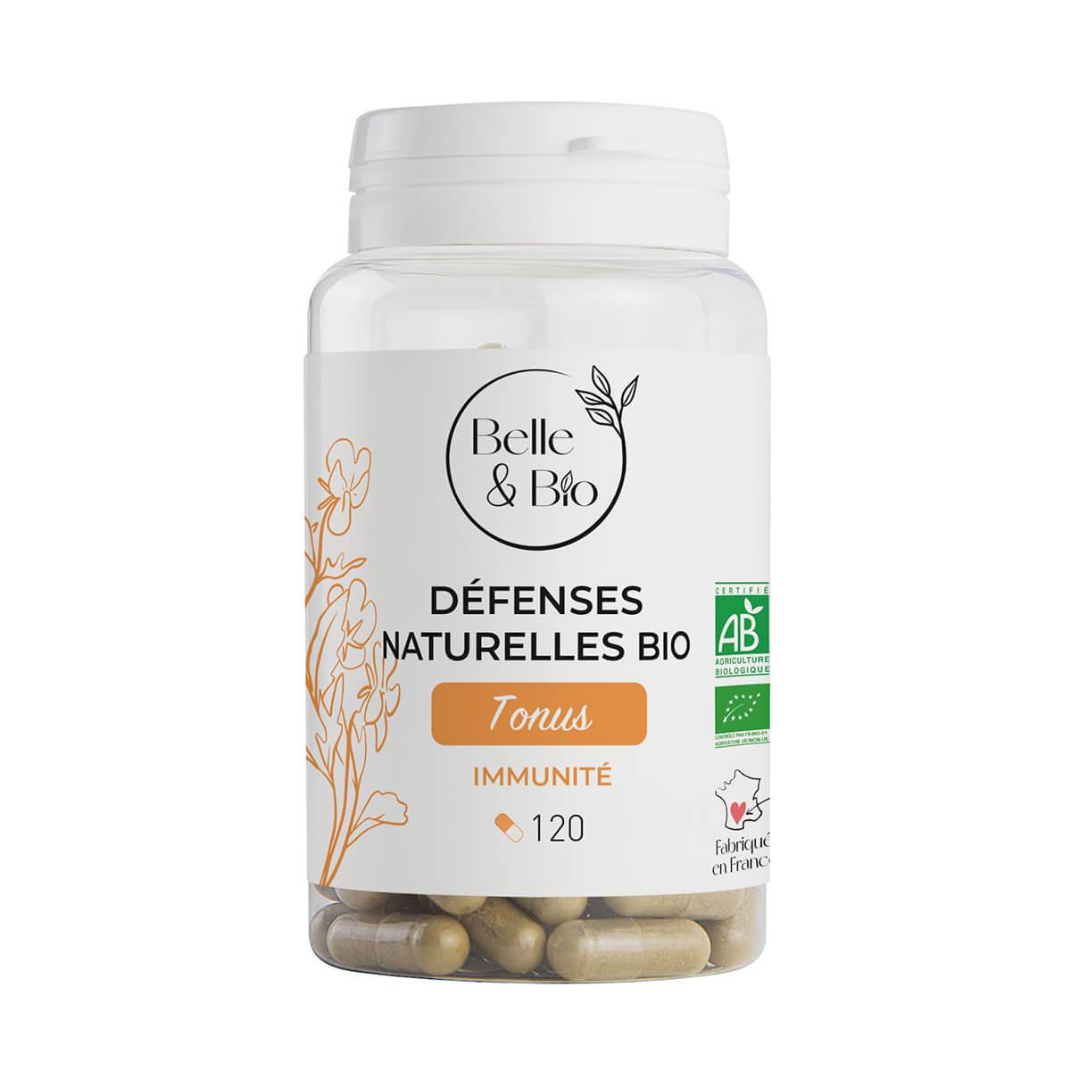 Belle & Bio - Defenses Naturelles Bio - 120 Gelules - Certifie AB par Ecocert