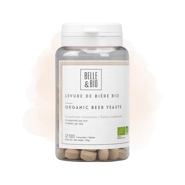 Belle & Bio - Levure de Bière Bio - Cheveux - 120 Comprimés - Certifié AB par